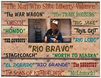 John Wayne movies Fridge Magnet 3. 4 X 5. Movie Westerns.....free Shipping