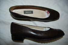 Dark Brown Leather BALLY Murene Slip On Low Shoes 4 E