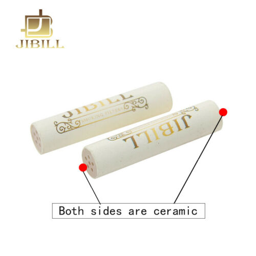 JIBILL 9mm Filters Total 50pcs Activated Carbon Filters For Smoking Tobacco Pipe