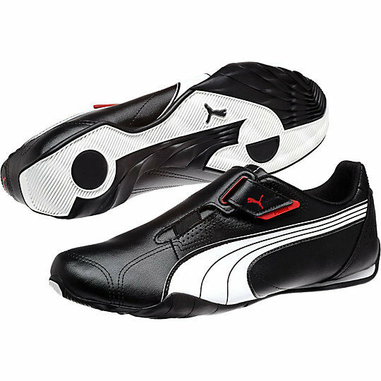 NEW PUMA REDON MOVE LEATHER CASUAL MEN'S SHOES WHITE BLACK RED WHITE 185999 02