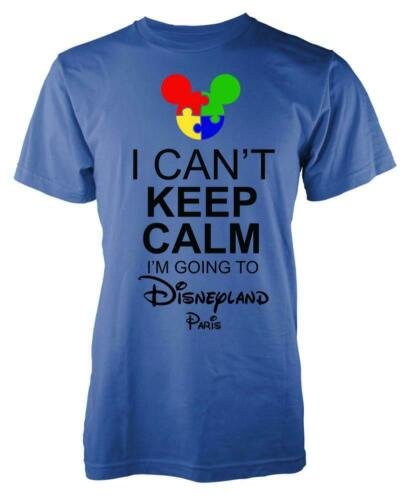 Autism Mickey I Can/'t Keep Calm I/'m Going To Disneyland Paris Kids T Shirt