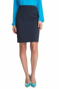 ESPRIT-Smart-Suit-Work-Navy-Pencil-Skirt-Stretch-Size-6-French-Connection-Style