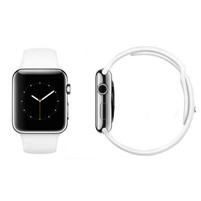 Apple Watch Series 3 - 38mm GPS+4G (EE) Stainless Steel - White Sport Band - VGC