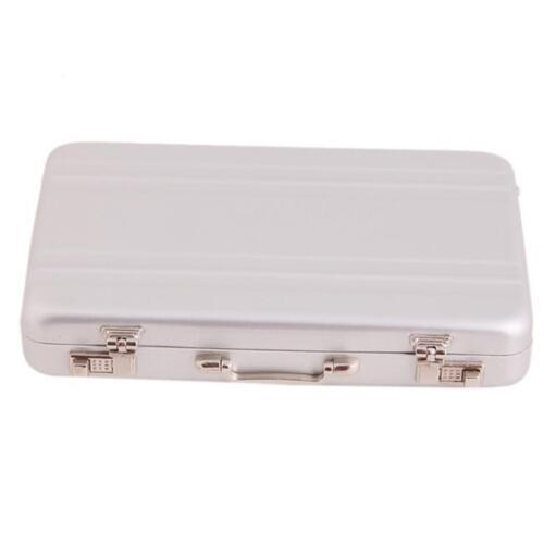 Metal Mini Briefcase Suitcase Business Credit Card Name Card Holder Box LJ