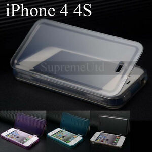 High-Quality-Transparent-iPhone-4-4S-Case-Apple-Plain-Generic-Cover-Rubber-Style