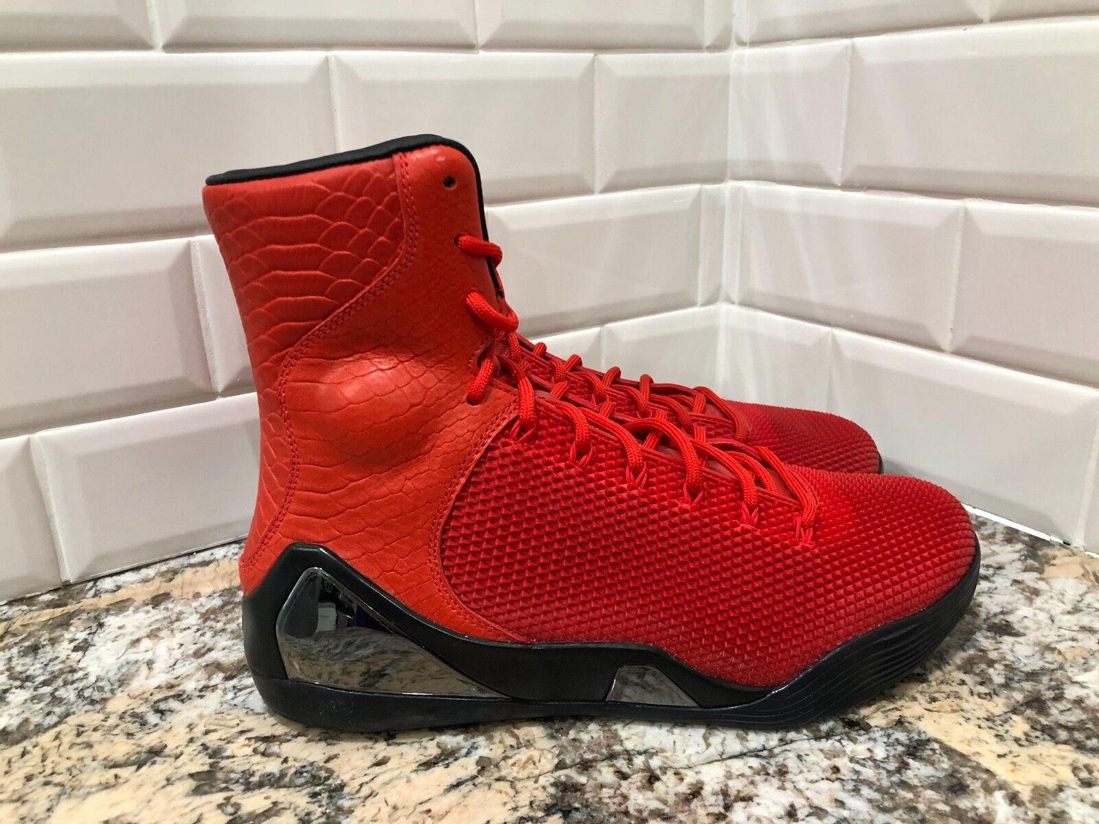 Nike kobe 9 ix alto krm ext qs sfida red mamba bryant 716993-600 sz - 9