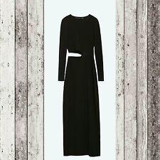 ZARA WOMAN Studio Long Sleeve Dress Black Size XSmall