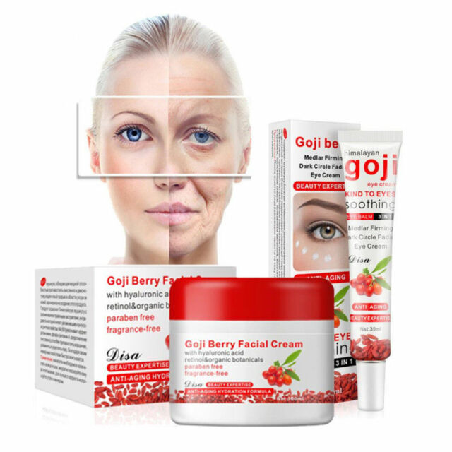 Goji Berry Facial Cream Eyes Cream Whitening Moisturizing Anti Aging Skin Care