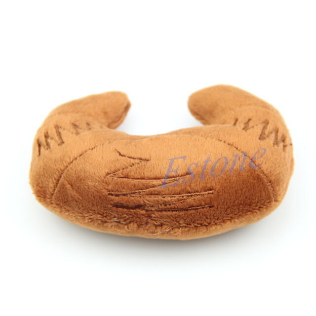 Bread Shape Dog Toy Pet Puppy Chew Squeaker Squeaky Plush Sound Cute Bakery
