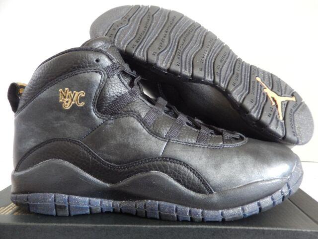 82d8dbdbf11 2016 Nike Air Jordan 10 Retro NYC BG Black Gold 310806-012 Size 7 ...