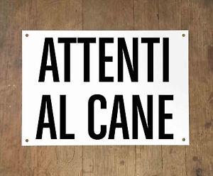 ATTENTI-AL-CANE-2-Targa-cartello-metallo-Beware-of-dog-sign-metal