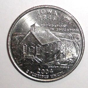 2004-US-State-Quarter-25-cents-Iowa-Schoolhouse-coin