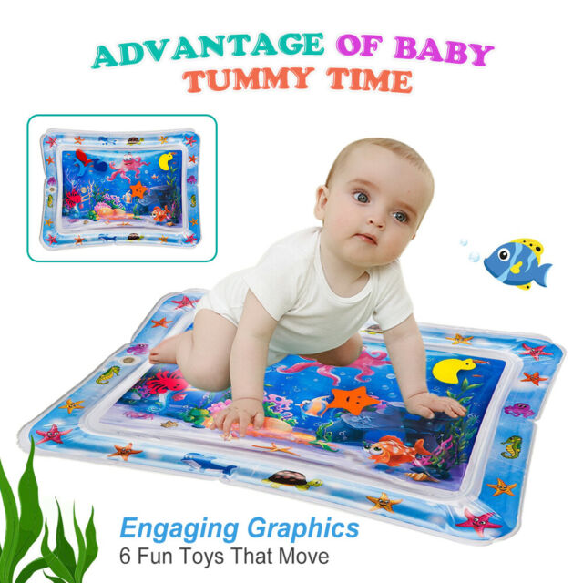 Baby Inflatable Water Play Mat Novelty Play For Kids Children Infants Tummy Time