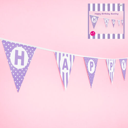 """Birthday Party Decorations """"HAPPY BIRTHDAY"""" Flag Banner Bunting .. 9 Colours!"""