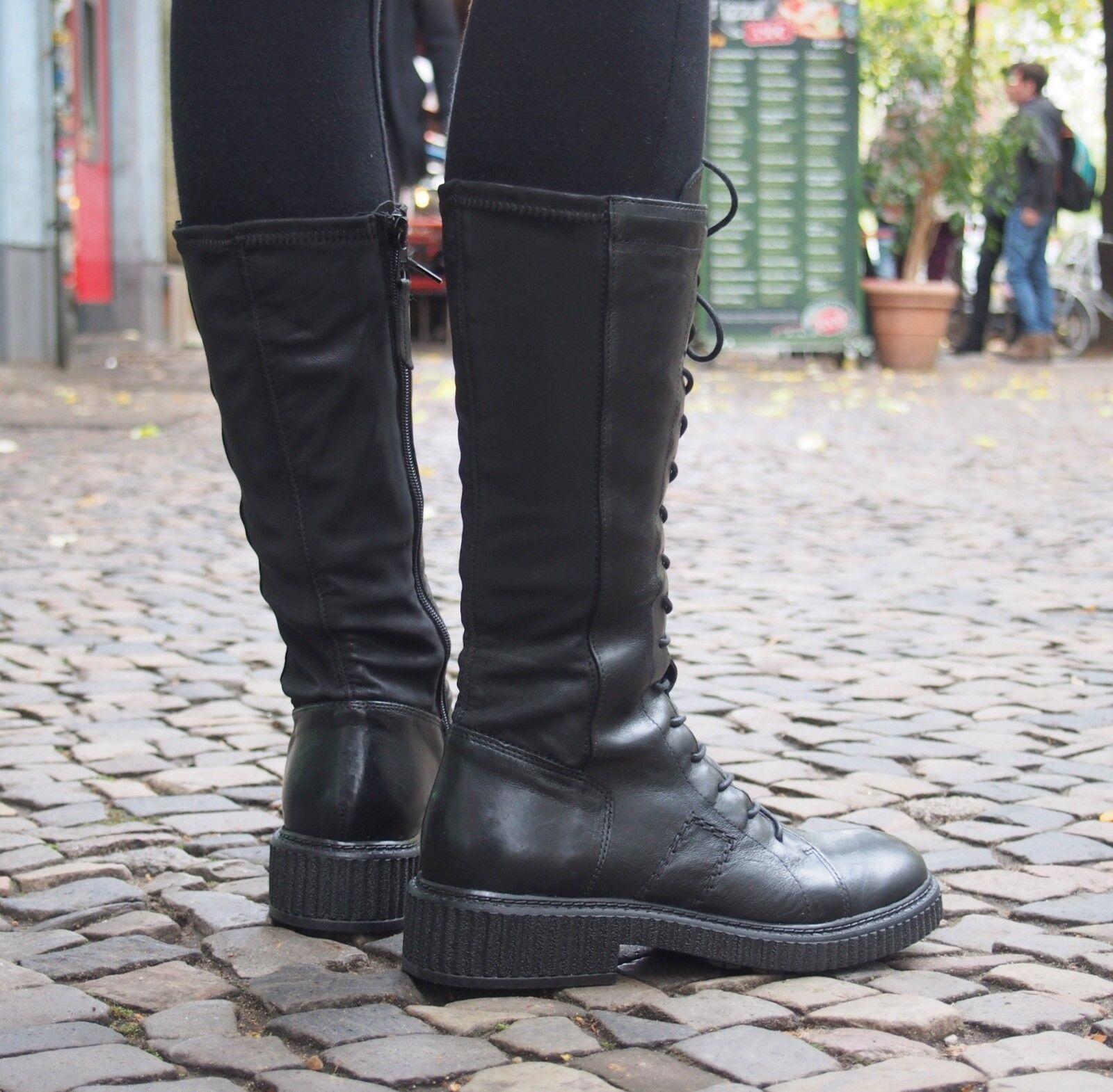MJUS stretch Stiefel Creep 132311 Echtleder schwarz schwarz Damenstiefel  SALE NEU