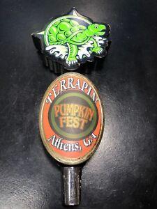 Details about Terrapin Beer Tap Handle Pumpkin Fest Athens GA Bar Man Cave  Pub