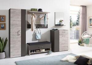 Garderoben Sitzbank garderoben set kommode schrank paneel sitzbank garderobe spiegel