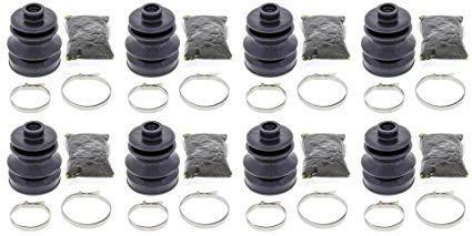 Complete Front /& Rear Inner /& Outer CV Boot Repair Kit for Arctic Cat 400 FIS 4x