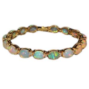 Watch-Video-Natural-Ethiopian-Welo-Fire-Opal-Cabochon-Bracelet-Jewelry-DDL497