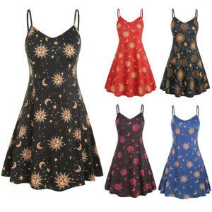 2019-Fashion-Women-Plus-Size-Printed-Dress-O-Neck-Sleeveless-Casual-Dresses