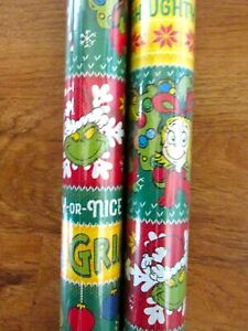 How The Grinch Stole Christmas Wrapping Paper Roll 40 Sq Ft.
