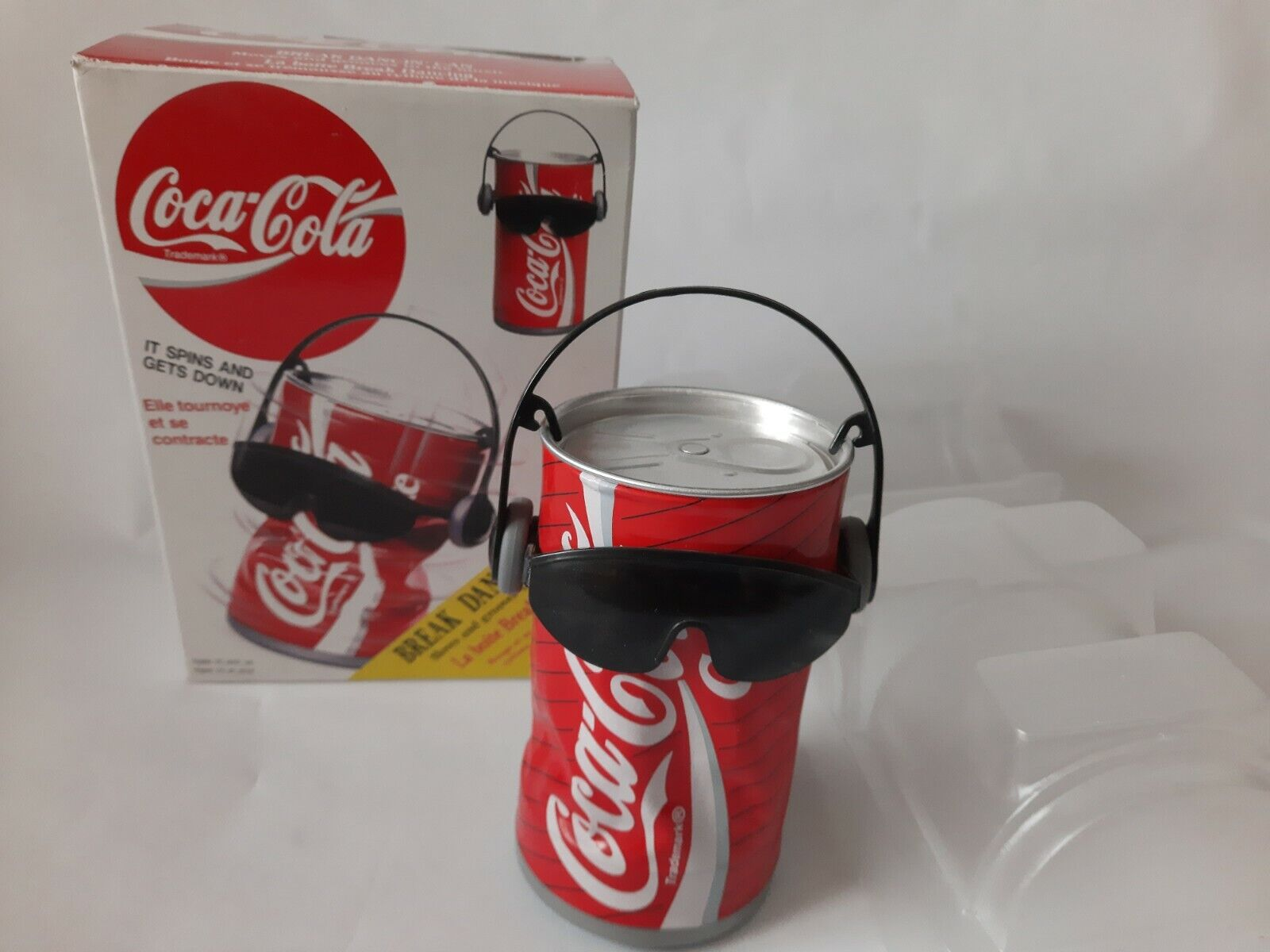 Coca-Cola Break Dancing can vintage 1990 in original box by Takara