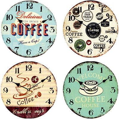 Orologio Da Parete 29cm Café-design Cucina Orologio-vintage-mostra Il Titolo Originale Vendendo Bene In Tutto Il Mondo