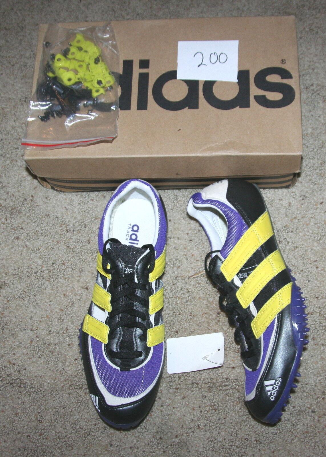 ADIDAS ADISTAR 2000 SP track field spikes MID DISTANCE shoe purple black Price reduction Seasonal clearance sale