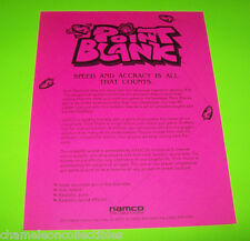 POINT BLANK By NAMCO 1994 ORIGINAL VIDEO ARCADE GAME BULLETIN STYLE SALES FLYER