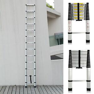 3.8m Portable Heavy Duty Multi-usages en aluminium Télescopique Ladder échelle