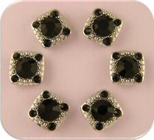2 Hole Beads Stardust GALA Jet Black Swarovski Crystal Elements ~ Sliders QTY 6