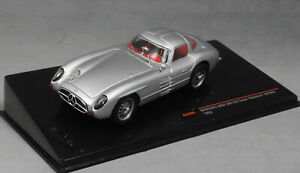 IXO-Mercedes-Benz-300-SLR-034-Uhlenhaut-Coupe-034-en-plata-1955-CLC284-1-43-Nuevo