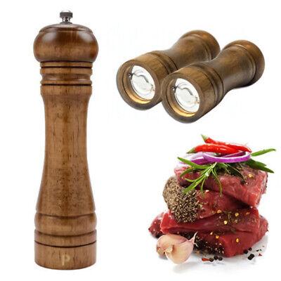 "5/"" 8/"" 10/"" Refillable Wooden Salt Pepper Mill Spice Manual Grinder Kitchen Tool"