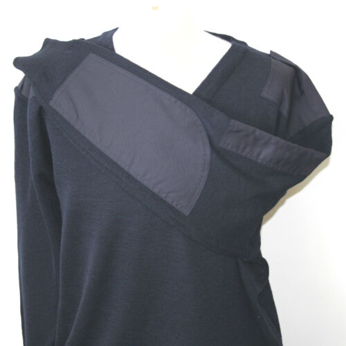 Men's security//corporate with patches V-neck Sweater//Jumper #78682