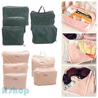 5Pcs Set Packing Cubes Travel Luggage Organizer Zip Clothes Storage Bag Pouch