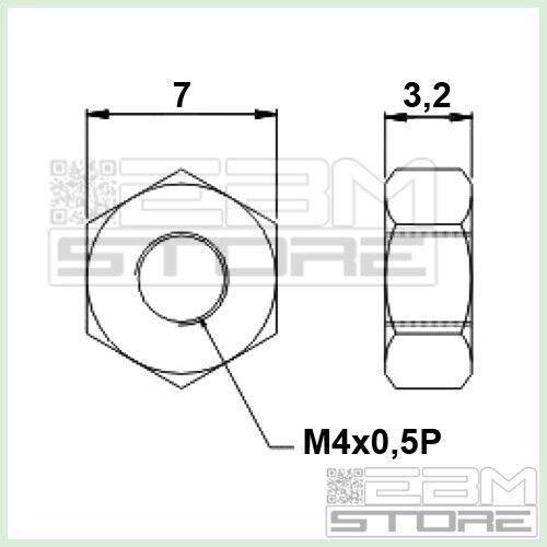 10 pz DADO M4 in metallo distanziali dadi ART GY01