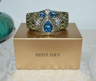 NIB $300 HEIDI DAUS Elegant *Good to be QUEEN* Crystal CUFF Bangle Bracelet