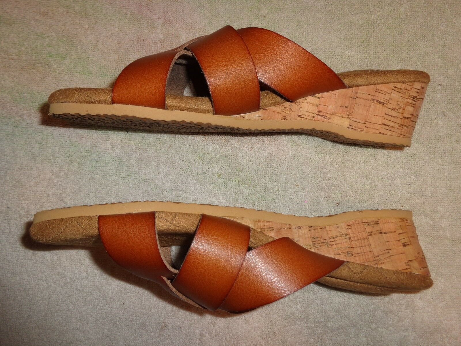BASIC EDITIONS BROWN SANDALS WOMEN'S SIZE 9