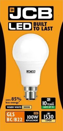 10w 100W LED es GLS // BC 3000k Warm // 6500k - Daylight 60w 15w Jcb 6w 40w
