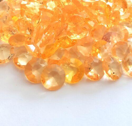 Dekosteine Diamants Orange Abricot 10 Pcs 20 mm Déco Décoration De Table Streudeko