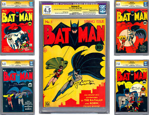 BATMAN #12345678910 CGC *ALL 10 ISSUES SIGNED* ORIG ARTIST JERRY ROBINSON 1940