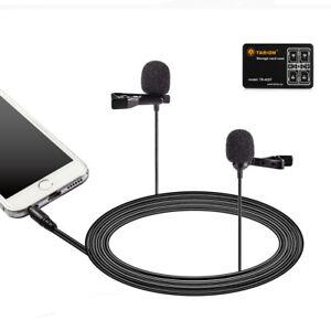 Boya By-lm400 Double Tête à Condensateur Lavalier Microphone Pour Pour Smartphone Hot-afficher Le Titre D'origine Grandes VariéTéS