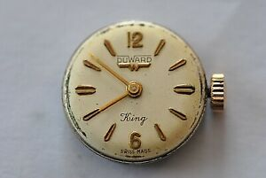 And Digestion Helping 1/2796 ref. Original Duward King Caliber Fhf 34 Movement & Dial Running