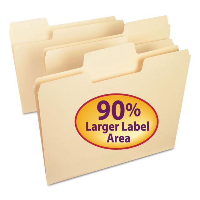 Smead Supertab File Folders, 1/3 Cut Top Tab, Letter, Manila, 100/box