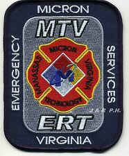 "Industrial - MICRON - M.T.V. - E.R.T., Virginia (3.5"" x 4.5"" size) fire patch"