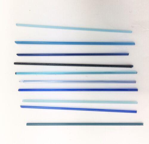 Largueros De Vidrio Fusionado COE90 Azul Turquesa Aqua Mix Colgantes De Microondas 10 X 5cm