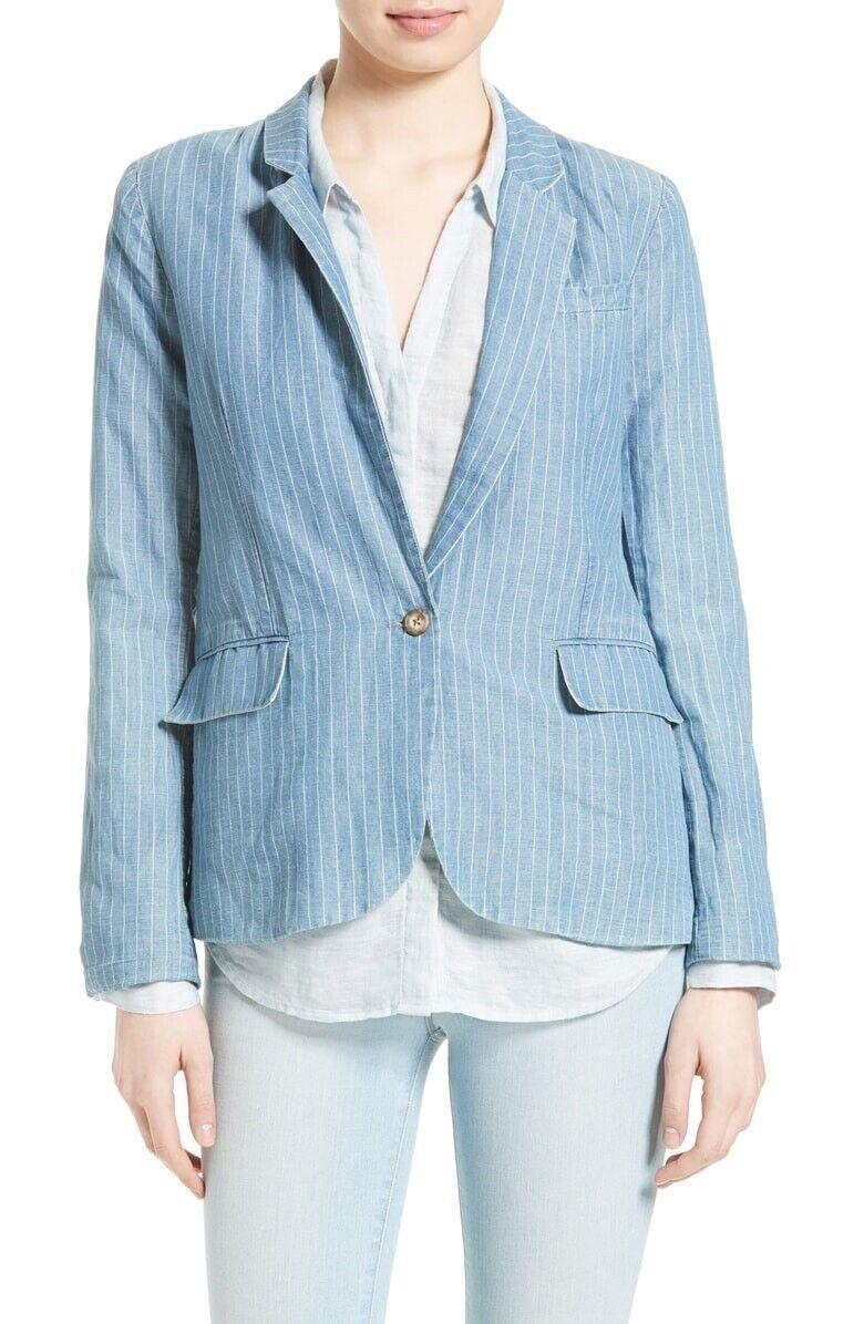 Joie Gabrianna Linen And Cotton Blazer Size 00