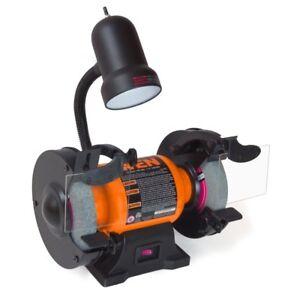 Outstanding Details About Wen Bench Grinder 6 Inch Wheels Flexible Work Light Benchtop Electric Power Tool Machost Co Dining Chair Design Ideas Machostcouk