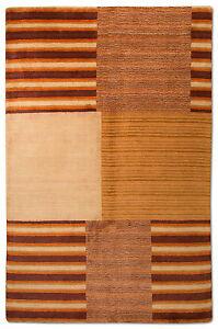 Gabbeh-Tapis-237x154cm-Patchwork-Design-Laine-avec-soie-Fait-main