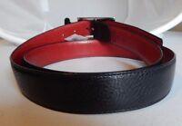 Brighton Stewart Stitch Reversible Leather Belt Sizes 42, 46 Usa M11317